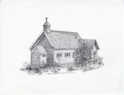 Drawing of Smithers' Old Anglican Church (descriptions6653)